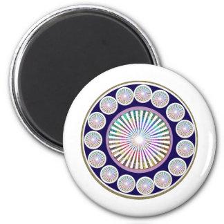 Multiple CHAKRA  -  Sparkle n Live Mandala Magnets