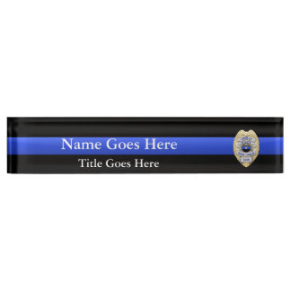 Multiple Choice Chief of Police 1-Star Badges Name Plate