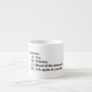 Multiple Choice Mug for Tea Lovers Espresso Mug