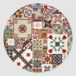 Multiple Choice Quilt Round Stickers