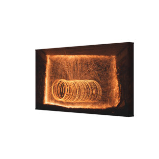Multiple circles wall of fire gallery wrap canvas
