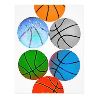 Multiple Colored Basketballs 21.5 Cm X 28 Cm Flyer