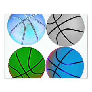 Multiple Colored Basketballs Card