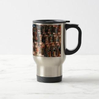 Multiple decorated flower vases coffee mug