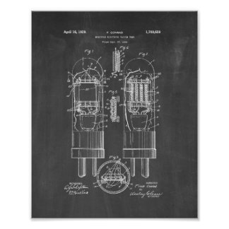 Multiple-electrode Vacuum Tube Patent - Chalkboard Poster
