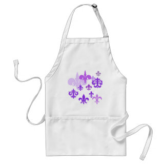 Multiple Fleur de Lis in Purple Shades Standard Apron