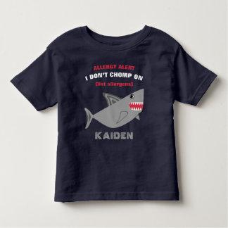 Multiple Food Allergy Alert Shark Shirt