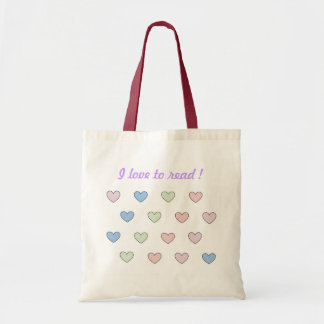 Multiple hearts small tote bag