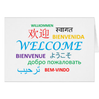 Multiple Language Welcome Card