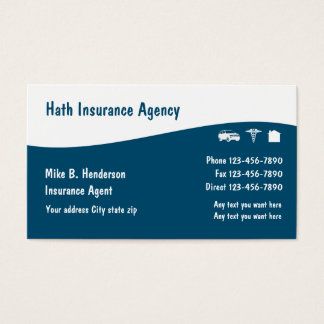 Multiple Line Insurance Business Cards