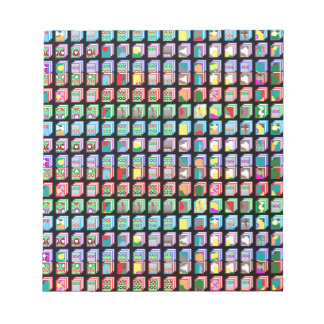 Multiple Miniature Abstract Art Patterns on Gifts Notepads