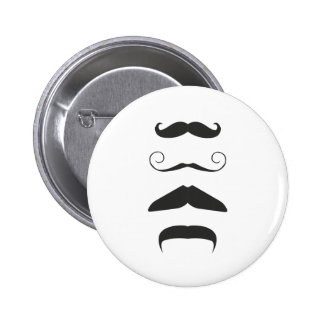 Multiple Moustache 6 Cm Round Badge