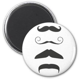 Multiple Moustache Fridge Magnets