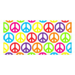 Multiple Multicolor Peace Signs Photo Card Template