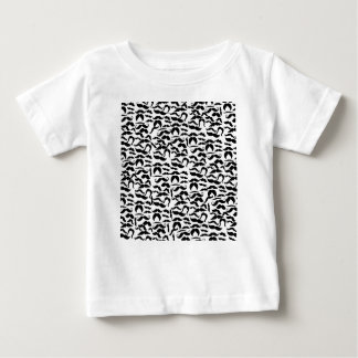 Multiple Mustache Variations Pattern Baby T-Shirt