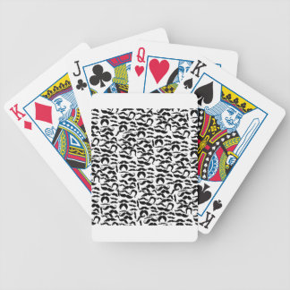 Multiple Mustache Variations Pattern Bicycle Playing Cards
