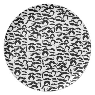 Multiple Mustache Variations Pattern Plate
