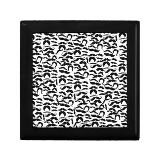 Multiple Mustache Variations Pattern Small Square Gift Box