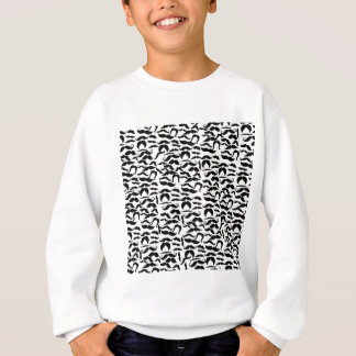 Multiple Mustache Variations Pattern Sweatshirt