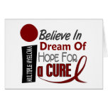 Multiple Myeloma BELIEVE DREAM HOPE Greeting Cards