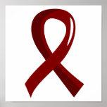 Multiple Myeloma Burgundy Ribbon 3