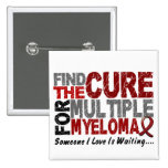 Multiple Myeloma FIND THE CURE 1 15 Cm Square Badge