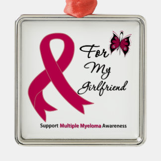 Multiple Myeloma For My Girlfriend Silver-Colored Square Decoration