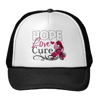 Multiple Myeloma Hope Love Cure Trucker Hats