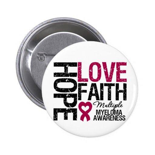 Multiple Myeloma Hope Love Faith Pins