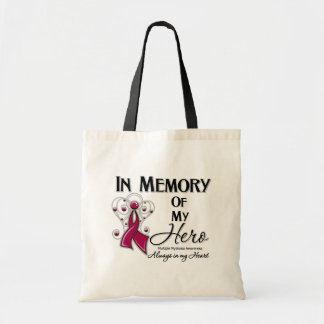 Multiple Myeloma  In Memory of My Hero Canvas Bag