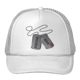 Multiple Myeloma Survivor Hope Dog Tags Hat
