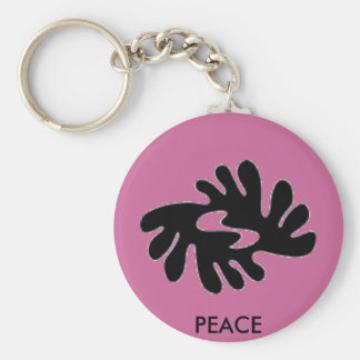 (multiple peace products selected) basic round button key ring