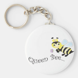 (multiple products selected )Queen Bee Basic Round Button Key Ring