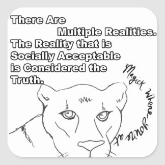 Multiple Realities Square Sticker