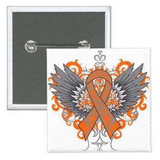 Multiple Sclerosis Awareness Wings 15 Cm Square Badge