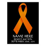 Multiple Sclerosis  Benefit Auction Ribbon
