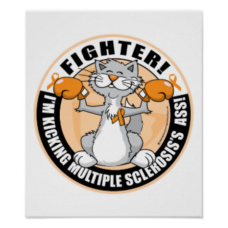 Multiple Sclerosis Boxing Cat Print