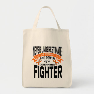 Multiple Sclerosis Determined Fighter Grocery Tote Bag