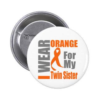 Multiple Sclerosis I Wear Orange Twin Sister Pins