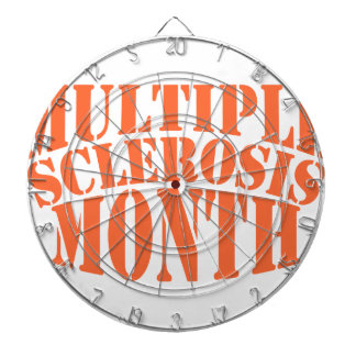 Multiple Sclerosis Month - Appreciation Day Dartboard With Darts