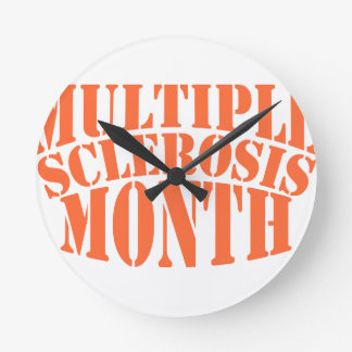 Multiple Sclerosis Month - Appreciation Day Round Clock