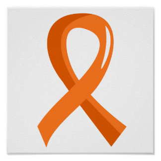 Multiple Sclerosis Orange Ribbon 3 Poster