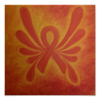 Multiple Sclerosis ribbon poster