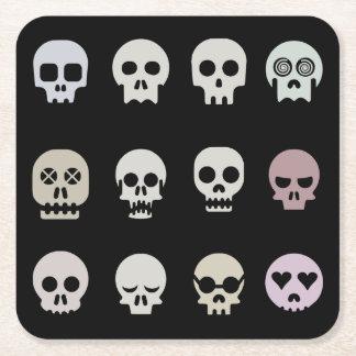 Multiple Skull Paper Coaster