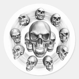 Multiple Skulls Round Sticker