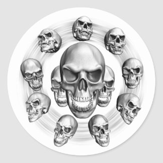 Multiple Skulls Stickers