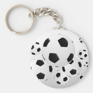 Multiple Soccer Balls Keychain