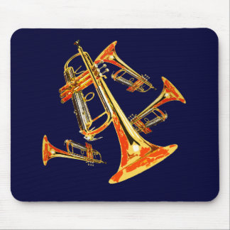 Multiple Trumpets Mouse Pad