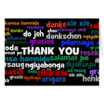 Multiple Ways to Say Thank You in Many Languages Greeting Card