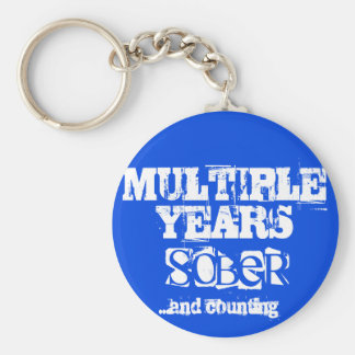 Multiple Years Sobriety Key Ring